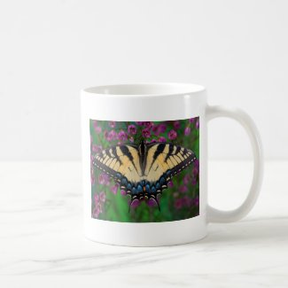 Swallowtail Butterfly on purple Coffee Mug