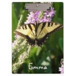 Swallowtail Butterfly on Purple Wildflowers Clipboard