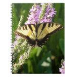 Swallowtail Butterfly on Purple Wildflowers Notebook