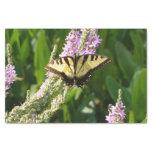 Swallowtail Butterfly on Purple Wildflowers Tissue Paper