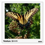 Swallowtail Butterfly on Purple Wildflowers Wall Sticker