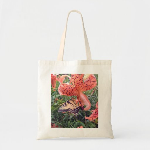 Swallowtail Butterfly on Tiger Lily Tote Bag Tote Bags