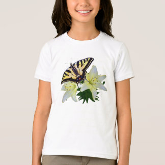 Swallowtail butterfly on Tulips T-Shirt