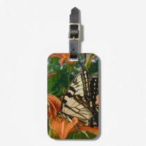 Swallowtail Butterfly Orange Lily Bag Tag