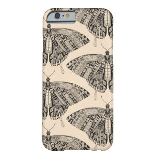 swallowtail butterfly pale peach black barely there iPhone 6 case
