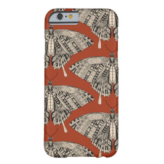 swallowtail butterfly terracotta black barely there iPhone 6 case