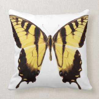 Swallowtail Butterfly Throw Pillow in Yellow/Black