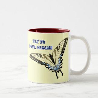 Swallowtail Butterfly Two-Tone Coffee Mug