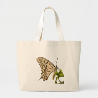 Swallowtail Butterfly Vector Isolated Large Tote Bag