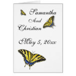 Hand shaped Swallowtail Butterfly Wedding Thank You Card