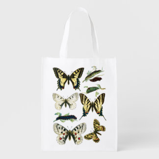 Swallowtail Caterpillars, Butterflies and Moths Grocery Bag