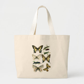 Swallowtail Caterpillars, Butterflies and Moths Large Tote Bag