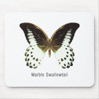 Swallowtail de mármol con nombre tapete de ratón