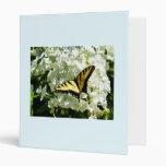 Swallowtail en el Hydrangea blanco