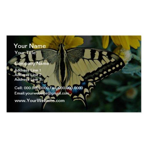 Swallowtail, flores del machaon de Papilio Tarjetas De Visita