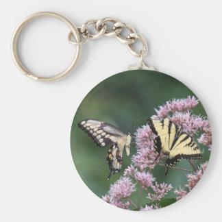 Swallowtail gigante y tigre del este Swallowtail Llaveros Personalizados