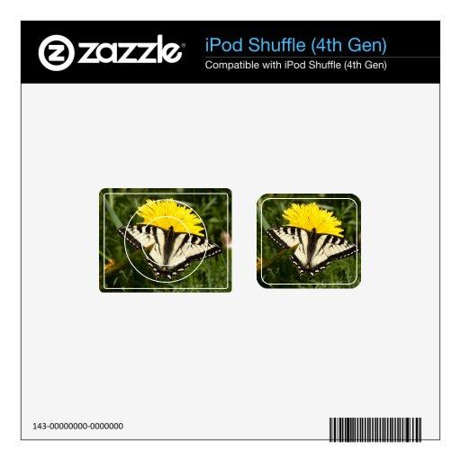 Swallowtail hecho andrajos iPod shuffle calcomanías