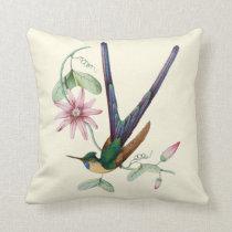 Swallowtail Hummingbird Floral Indoor Pillow 16x16