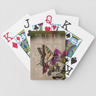 Swallowtail in the Petunias; 2013 Calendar Bicycle Playing Cards