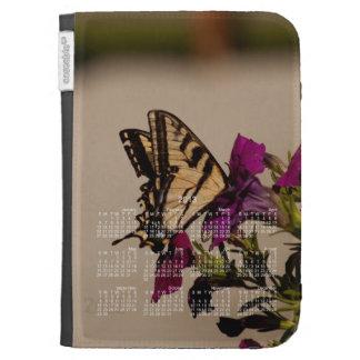 Swallowtail in the Petunias; 2013 Calendar Kindle Folio Cases