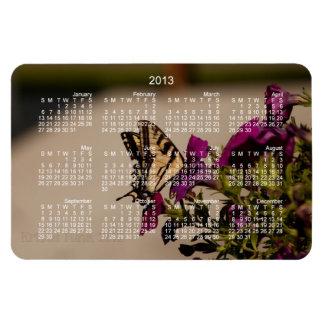 Swallowtail in the Petunias; 2013 Calendar Magnet