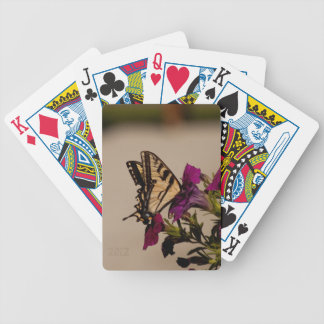 Swallowtail in the Petunias Bicycle Playing Cards