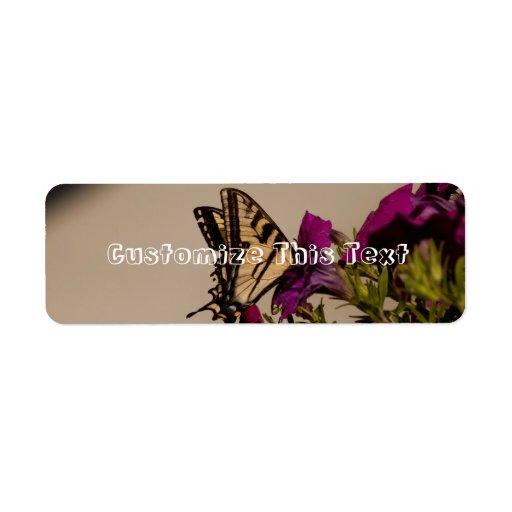 Swallowtail in the Petunias Return Address Label