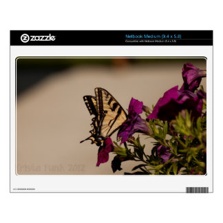 Swallowtail in the Petunias Netbook Decal