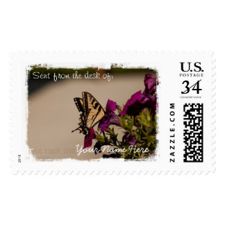 Swallowtail in the Petunias Stamp