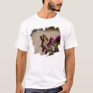 Swallowtail in the Petunias T-Shirt