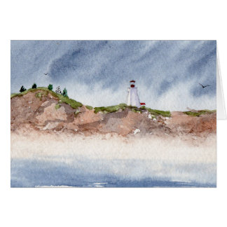 Swallowtail Lighthouse Seascape Greeting Card