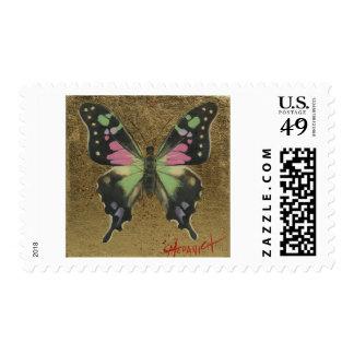 Swallowtail manchado púrpura sello