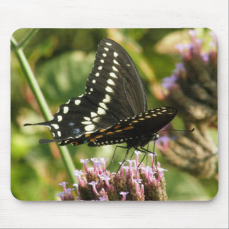 Swallowtail negro 2 tapete de ratón