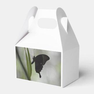 Swallowtail negro caja para regalos de fiestas