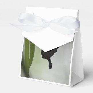 Swallowtail negro cajas para regalos de boda