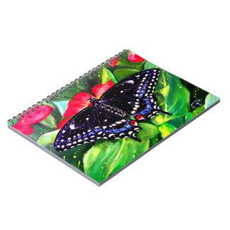 Swallowtail negro libreta espiral