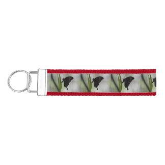 Swallowtail negro llavero de pulsera