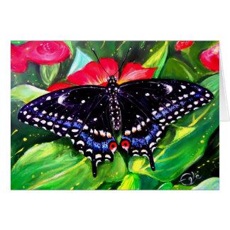 Swallowtail negro tarjeta de felicitación
