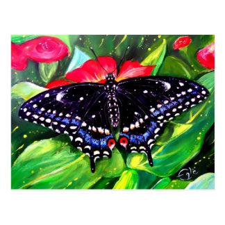 Swallowtail negro tarjetas postales