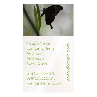 Swallowtail negro tarjetas de visita
