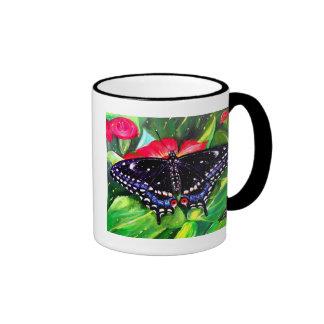 Swallowtail negro taza a dos colores