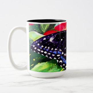 Swallowtail negro taza dos tonos