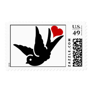 SwallowTail of Love Rockabilly Wedding or Black Ti Stamp
