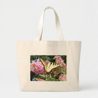 Swallowtail on Butterfly Bush Canvas Tote