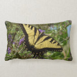 Swallowtail on Butterfly Bush Colorful Nature Lumbar Pillow