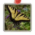 Swallowtail on Butterfly Bush Colorful Nature Metal Ornament