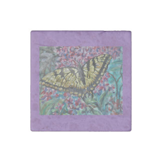 Swallowtail on Lilac Stone Magnet