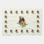 Swallowtail on Orange Lantana Hand Towels