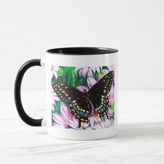 Swallowtail on Pink Flowers Mug
