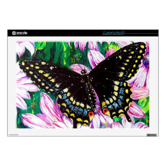 """Swallowtail on Pink Flowers Skin For 17"""" Laptop"""